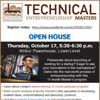Technical Entrepreneurship Open House