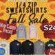 1/4 Zip Sweatshirts Fall Sale