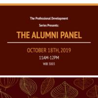 The Professional Development Series Presents: The Alumni Panel