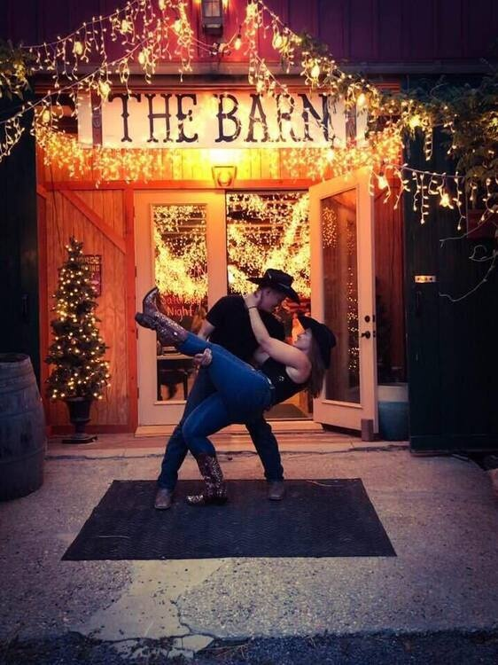 American Country Saturday Night Holiday Barn Party