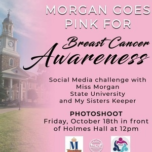 Morgan Goes Pink for Breast Cancer Awareness