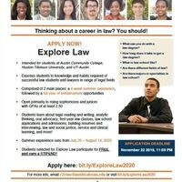 Applications are open for the Explore Law program!