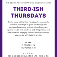 International Studies hosts, Third-ish Thursday