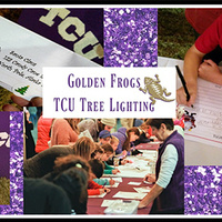 Golden Frogs: Volunteer for the TCU Tree Lighting