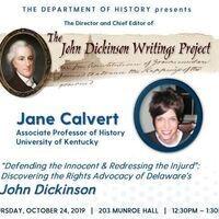 Dept. of History Lecture - Dr. Jane Calvert