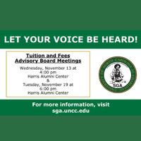 Tuition & Fees Advisory Board Meetings