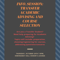 Transfer Students! Informational Session: Academic Advising & Course Selection