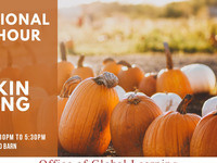 International Coffee Hour x Pumpkin Carving and Painting