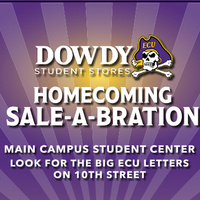 Dowdy Student Stores' Homecoming Sale-A-Bration