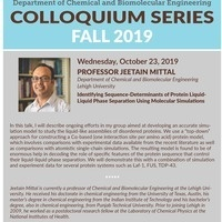 ChBE Seminar Series with Dr. Jeetain Mittal