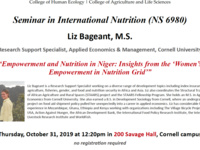 Empowerment and Nutrition in Niger: Insights from the 'Women's Empowerment in Nutrition Grid'