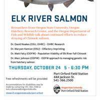 Elk River Salmon Research Update