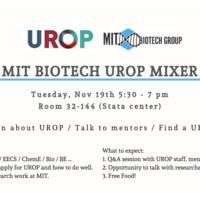 MIT IAP Biotech UROP Mixer