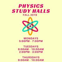 Physics Study Halls (FALL 2019)