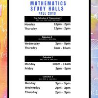 Pre Calculus & Trigonometry Study Halls (FALL 2019)