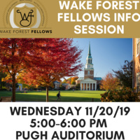 Wake Forest Fellows Program Info Session