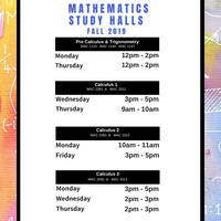 Calculus 1 Study Halls (FALL 2019)