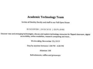 Academic Technology Team Open House