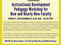Instructional Development Pedagogy Workshop for New and Nearly-New Faculty