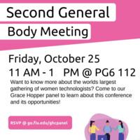 Second General Body Meeting + Grace Hopper Panel