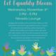 Let Equality Bloom