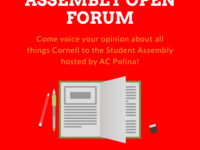 Student Assembly Open Forum