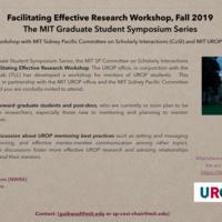 Facilitating Effective Research Workshop