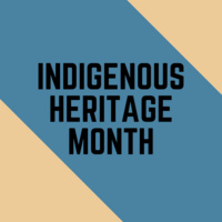 Book display for Indigenous Heritage Month