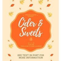 Griffin Guide Study Break: cider & sweets