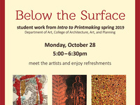 Printmaking Exhibit and Artist Reception