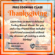 Free Thanksgiving Cooking Class
