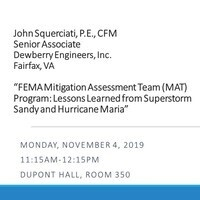 Civil Engineering Seminar:  John Squerciati, PE, CFM