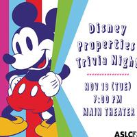 Disney Properties Trivia Night