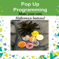 Pop-up at the EMU! Make-Your-Own Halloween Button!