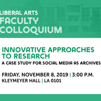 Liberal Arts Faculty Colloquium: Dr. Cacee Hoyer