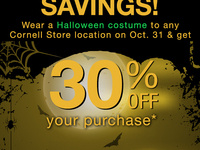 Spooky Savings at The Cornell Store