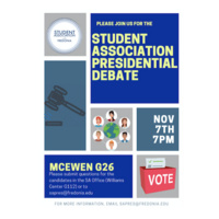 Student Association Presidential Debate