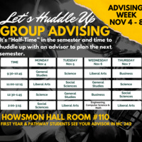 Let's Huddle Up Group Advising!