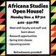 Africana Studies Open House