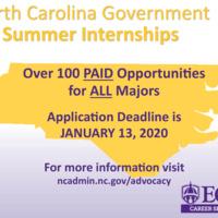 2020 State of NC Internship Program