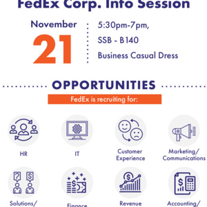 FedEx Corp Info Session. Recruiting Opportunities