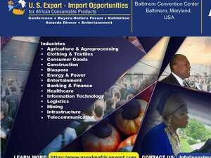 US Export-Import Opportunities for African Consumable Products Expo 2020