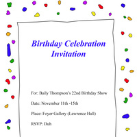"""Birthday"" - Foyer Gallery"