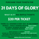 31 Days of Glory Raffle Tickets