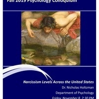Fall 2019 Psychology Colloquium