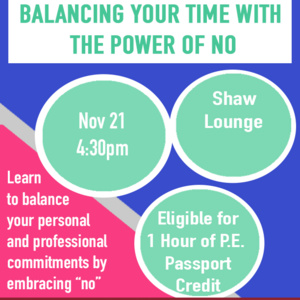 """Balancing Your Time With the Power of """"No"""""""