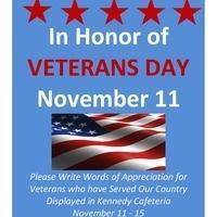 Honoring Veterans on Veterans Day - THANK YOU!