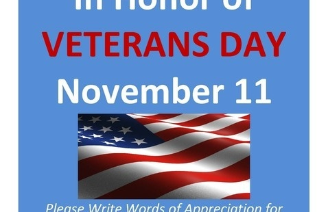 Honoring Veterans on Veterans Day - THANK YOU!