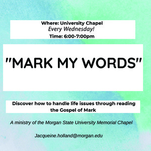 """Mark My Words"" Bible Study"