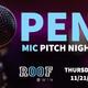 Open Mic (Business) Pitch Night 2019